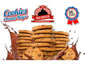 Max Protein Cookies Chocolate Negro 12 Pack X4 Galletas