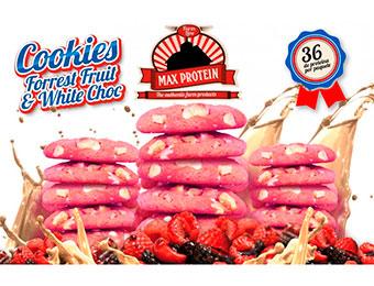 Max Protein Cookies Chocolate Blanco Y Fresa 12 Pack X4 Galletas